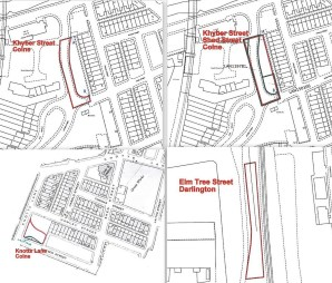 Property for Auction in Manchester - 4 X Freehold Parcels of Land in Colne BB8 & Darlington DL3, Lancashire, BB8 8EQ