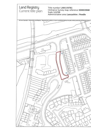 Property for Auction in North West - Freehold Land at Khyber Street, COLNE, Lancashire, BB8 8EQ